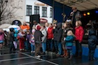 kinderen op podium